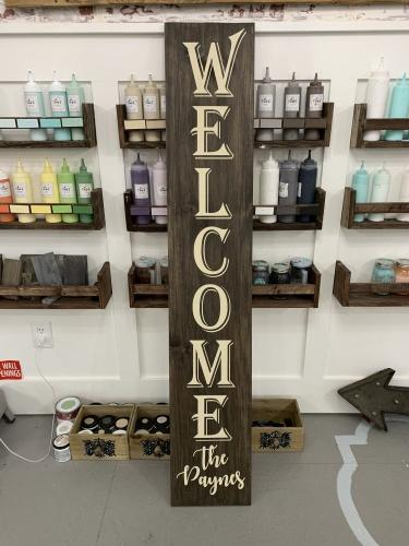 XL WELCOME WITH NAME 12x60